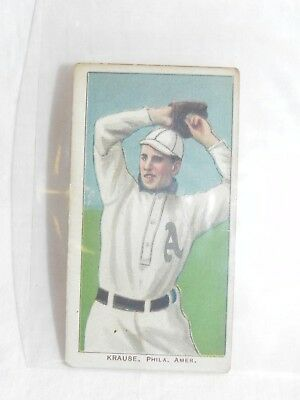 1909-11 T206 Piedmont 350 Harry Krause Pitching Cigarette Baseball Card Factory