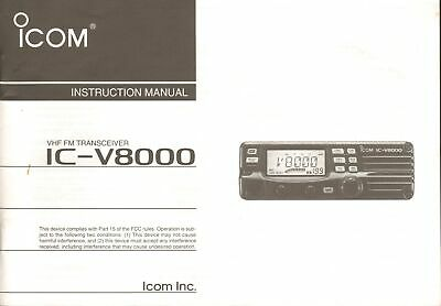 ICOM VHF TRANSCEIVER IC-V8000 Original Instruction Manual