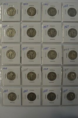 LOT: (20) Standing Liberty 25C -Dates: 1927-1928 - See Photos -