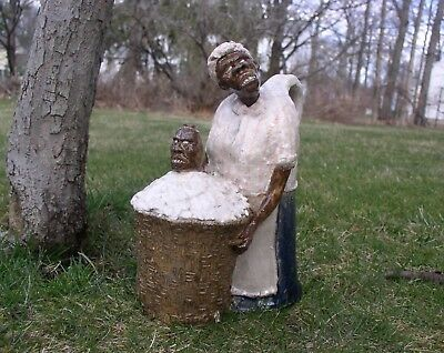 Woman Picking Cotton w/ Face Jug, Handled JUG, Southern Style Folk Art by Berdej
