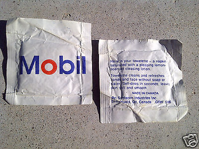 Mobil Oil Towelette (classic Mobil Gas Advertising item as a wipe)  new unopened