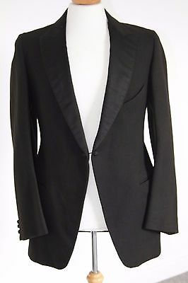Gents Vintage Black Bespoke Tailored Evening / Dinner Jacket 40-42 (Long)