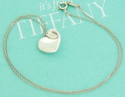 Tiffany & Co. Sterling Silver 925 Full Heart Pendant Necklace