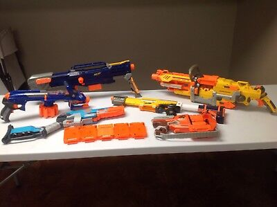 LARGE Nerf Gun Lot & Accessories  6 guns and 5 clips