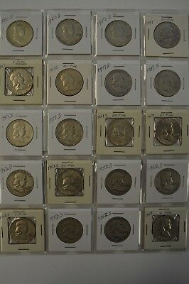 LOT: (20) Franklin Half Dollars - Dates: 1950- 1953- See Photos-Mixed Mint Marks