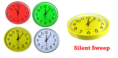 Round Wall Clock Silent Sweep Vintage Modern Home Bedroom Retro Time Quartz NEW