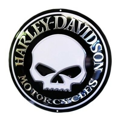 Harley Davidson ~ Willie G ~ 14 Inch Round Tin Sign ~ New ~ 100% Authentic