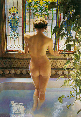 """HD Art  Canvas Print Oil Painting Woman At The Window  Home Decor 24""""x36"""""""