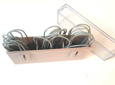 30 Vintage Metal Clips Pins With Case For Electric Hot Curlers Rollers