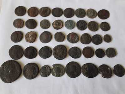 Lot Of 40 Ancient Bronze Roman Coins  Uncleaned