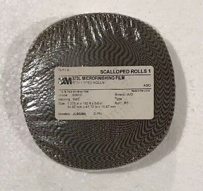 "3M 373L ASO Microfinishing Scalloped Film Roll 1.375"" x 150' x 5/8"" 60 MIC NEW"