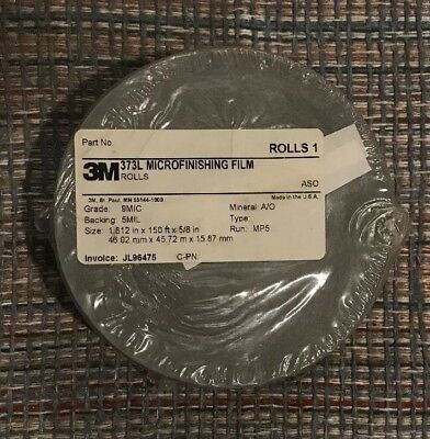 "3M 373L ASO Microfinishing Film Roll 1.812"" x 150' x 5/8"" 9 MIC NEW"