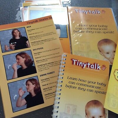 Tiny Talk Baby Sign Language Kit. DVD , Cards, Booklet etc