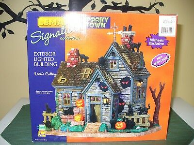 Lemax Spooky Town Halloween village Vicki's Cattery