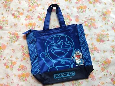 Doraemon Vinyl Purse Shopping Bag 2002 Kawaii Anime Blue Cat Fujiko