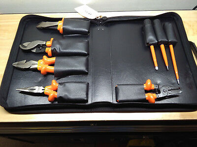 Cementex TR-8BEK insulated 8 piece electrical tool kit with case