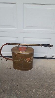 Vintage Smith Indian Fire Pump D.b. Smith & Co. Utica Ny Firefighter Equipment