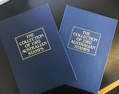 Collection of 1982 Australian Post Year Book Album with Stamps - Deluxe Edition