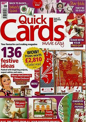 Quick Cards Made Easy  Magazine Issue 171. November  2017   Free Gift.