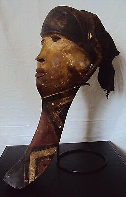 "21"" PENDE HEADDRESS Mask WITH STAND RARE African Carving VLg!!"
