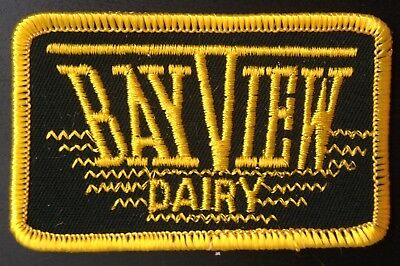Dairy Embroidered Patch~Bay View Dairy, Plattsburg, Ny.