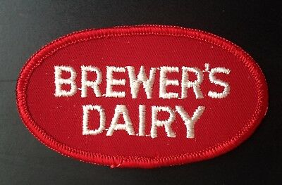 Dairy Embroidered Patch~Brewer's Dairy, Augusta, Maine
