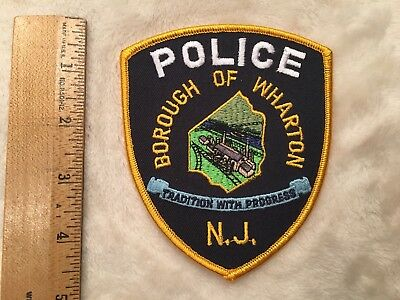 Wharton Police Patch NEW JERSEY