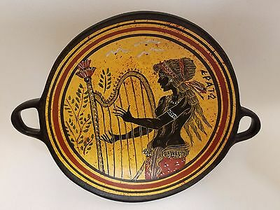 Erato Greek Muse Rare Hellenic Ancient Art Pottery Tray Kylix