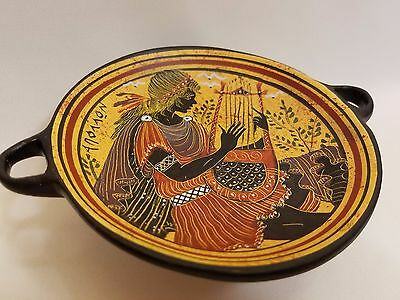 Apollo Greek God Rare Hellenic Ancient Art Pottery Tray Kylix