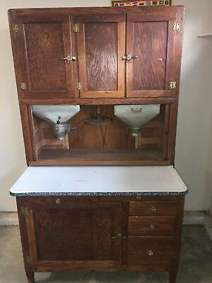Vintage Hoosier Baking Kitchen Cabinet 1800's