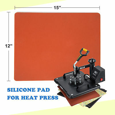 "12"" ×15"" Silicone Foam Pad Flat Heat Press Replacement Red"