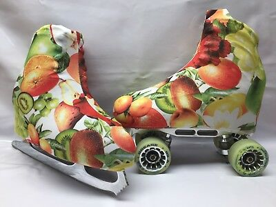 Fruit Salad Boot Covers for Roller Skates/Ice Skates  MEDIUM  ONLY