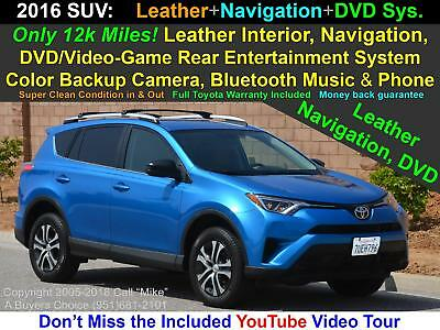RAV4 SE/LEx Custom Leather Navigation DVD Bluetooth 2016 Toyota RAV4 Special Edition Leather+ Navigation+DVD+ Rear Camera Bluetooth