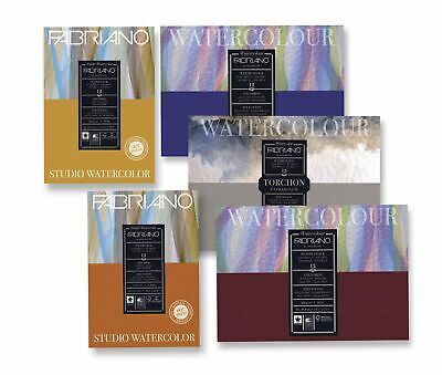Fabriano Studio 25% Cotton Water Colour Pads 12 Sheets - Hot Pressed 200gsm A5