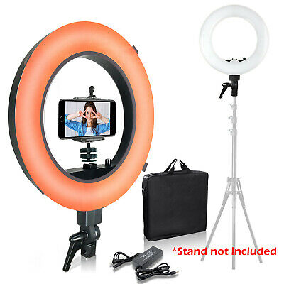 """18"""" Photography Ring Light with Orange & White Cover Phone Mount Adapter Kit"""