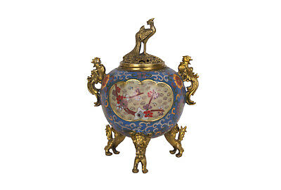 China 20. Jh. Emaille Censer - A Chinese Cloisonne Enamel Koro - Cinese Chinois