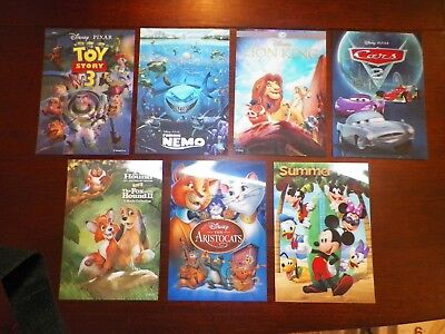 Disney Movie Club 3D Lenticular Cards LE, Lot of 7 Different Cards w/ Lion King!