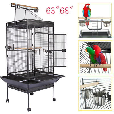 "63""68"" Bird Cage Cages Large Play Parrot Finch Cage Macaw Cockatiel Cockatoo"