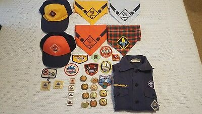 LOT of BSA Boy Scouts of America, Patches Neckerchiefs Pins