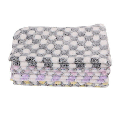 1X Pet Blanket Dog Puppy Kitten Cat Bed Pad Lovely Animal Warm Soft Flannel Mat