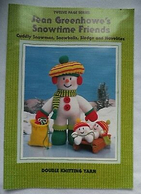 Jean Greenhowe's Snowtime Friends toy knitting pattern book