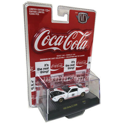 M2 MACHINES 52500 COCA COLA COKE 1965 SHELBY MUSTANG GT 350R 1/64 WHITE Red Card