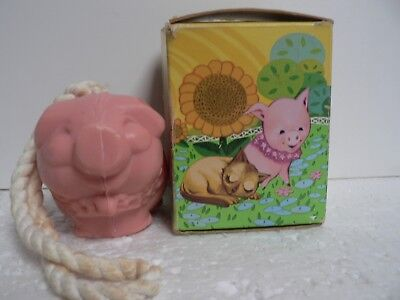 Vintage Avon Petunia Piglet Soap-On-A-Rope In Original Box Collectable