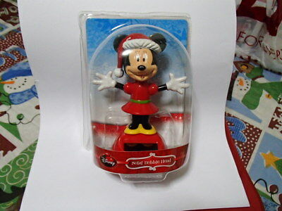 "* NEW * Disney "" Minnie Mouse ""  Solar Dancing Bobble Head"