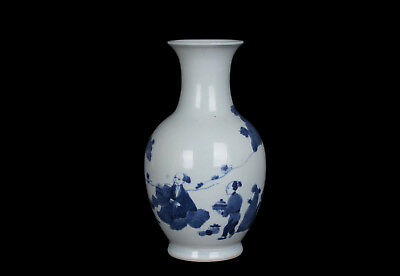 China 19. Jh. Blauweiß -A Chinese Bottle-Shaped Vase - Cinese Chinois Tongzhi