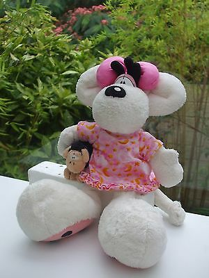 Peluche Diddl Diddlina 35 Cm Chemise De Nuit & Doudou Mouton Wollywell Depesche