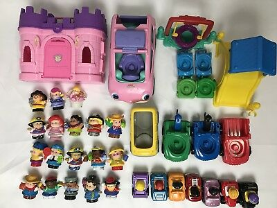 huge lot fisher price little people castle vehicles playground mini
