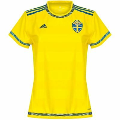 adidas Sweden Home Jersey 2015 2016 Womens Yellow Football Soccer Shirt Ladies