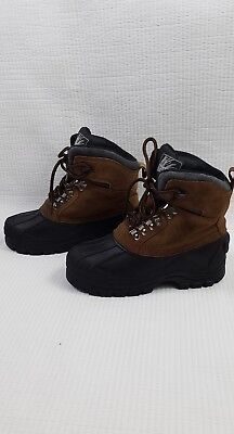 Itasca Boy's lace up thermolite Hiking snow boots size 2