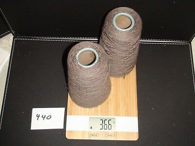 Knitting Machine Yarn On Cone X 2 2 Ply Lt Brown Softwool 366G
